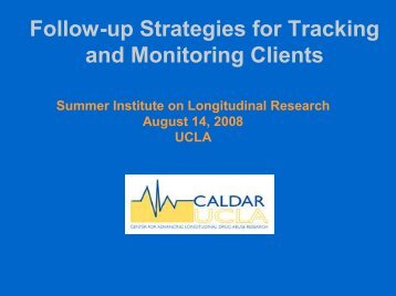 Follow-up Strategies for Tracking and Monitoring Clients - UCLA ...