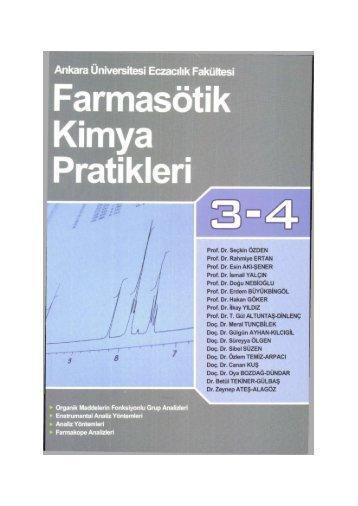 Farmasötik Kimya Pratikleri - Ankara Üniversitesi Kitaplar Veritabanı