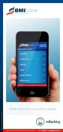 Bank smart with your Smart phone - BMI