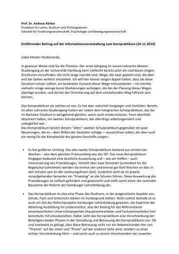 (24.11.2010) Liebe Master-Studierende, in gewisser ... - ZLH-Hamburg