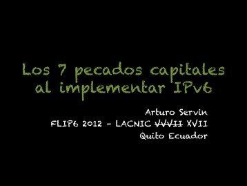 Los 7 pecados capitales al implementar IPv6
