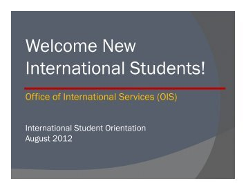 Welcome New International Students! - USC Student Affairs ...