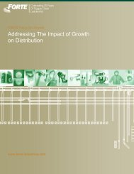 Addressing The Impact of Growth on Distribution - Forte Industries