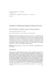 Possibilities for Modeling and Integration of Business Processes*