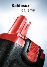 Kablosuz çalışma - Bosch elektrikli el aletleri