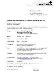 Einladung zum Juniorenturnier FC Pieterlen, Samstag, 27.Juni 2009