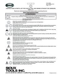 instructions & parts list for 1410 & 1412 air drills