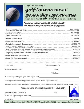Sponsorships Opportunities 09.pub - Cape Cod Academy