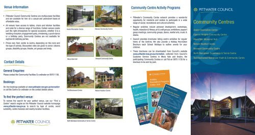 Community Centres - Pittwater Council