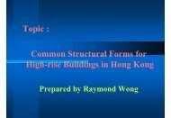 Topic : Common Structural Forms for High-rise Buildings in Hong Kong