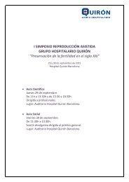 programa PDF - Unidad Reproducción Asistida Hospital Quirón ...