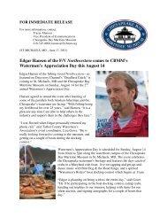 Edgar Hansen of the F/V Northwestern comes to CBMM's ...