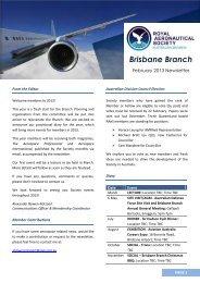 Brisbane Newsletter here - Royal Aeronautical Society