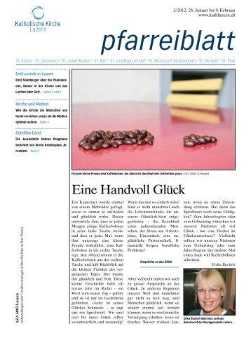 Eine Handvoll Glück - Katholische Kirche Stadt Luzern