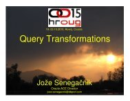 Query Transformations - HrOUG