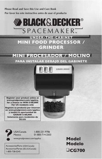 Model Modelo CG700 MINI FOOD PROCESSOR / GRINDER MINI ...