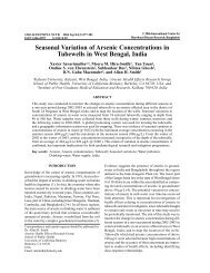 Seasonal Variation of Arsenic Concentrations in Tubewells in West ...