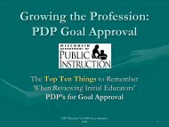 PDP Goal Approval - Teacher Education, Professional Development ...