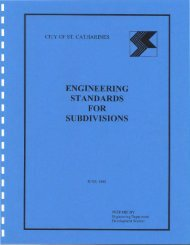 engineering standards for subdivisions - City of St.Catharines
