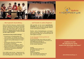 Bildschirm-Version - QuArt@Kindermusiktage eV