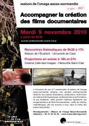 Accompagner la création des films documentaires Mardi 9 ...