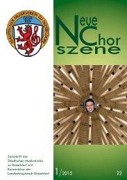 NeueChorszene 22 - Ausgabe 1/2015