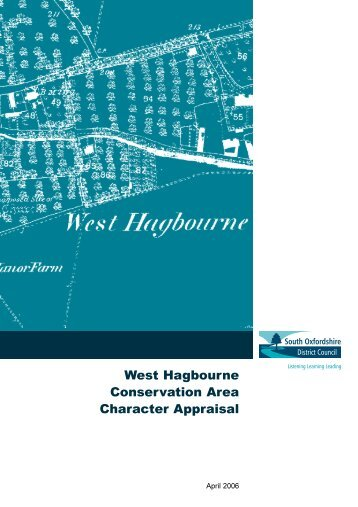West Hagbourne Conservation Area Character Appraisal - South ...
