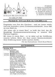 Pfarrblatt Nr. 14/15 vom 29.03. bis 13.04.2008 (€ 0,30) Eingeladen ...