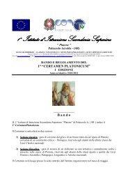 bando e regolamento 1^ edizione