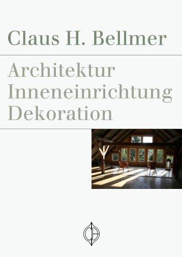 Claus H. Bellmer Architektur Inneneinrichtung Dekoration - ARTektur
