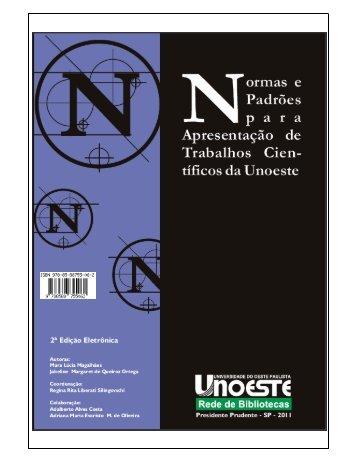 Manual Normas ABNT - Unoeste