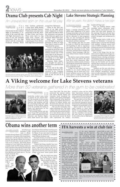 Issue 4: November 28, 2 - Lake Stevens School District #4