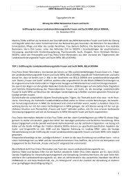 NRW-Netzwerk Frauen und Sucht 15. Dezember 2011 - Bella Donna