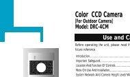 Color CCD Camera - alarmcentar