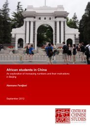 African students in China - The Centre for Chinese Studies