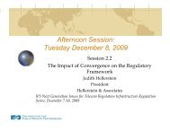 Afternoon Session: Tuesday December 8, 2009 - Hellerstein ...