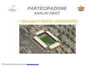 analisi SWOT municipio 3 BASSA VAL BISAGNO - Urban Center