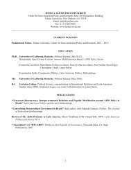 Jessica Rich cv for CIPR web page - Stone Center for Latin ...
