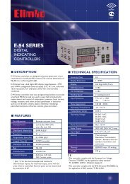 E-94 Series Digital Indicating Controllers - Elimko