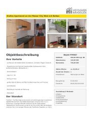 Objektbeschreibung - Hermann Immobilien GmbH