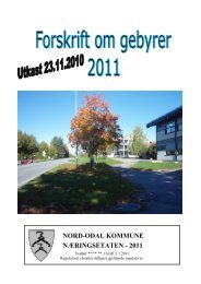 Gebyrhefte 2011 Utkast.pdf - Nord-Odal Kommune
