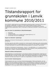 Tilstandsrapport for grunnskolen i Lenvik kommune 2010/2011
