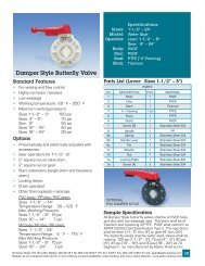 Damper Style Butterfly Valve - Lee Supply