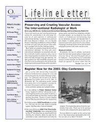 LifelineLetter - The Oley Foundation