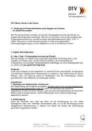 Preisangabenverordnung mit Hinweisen des DTV für Vermieter