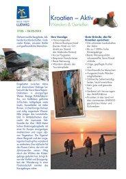 Kroatien – Aktiv - Reise Treff Ludwig