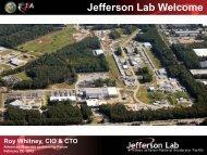 Jefferson Lab Welcome - FLC Mid-Atlantic Region