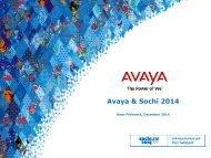 Avaya & Sochi 2014 - OCS