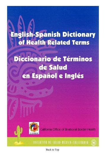 English-Spanish Dictionary Diccionario de ... - World Wide Open
