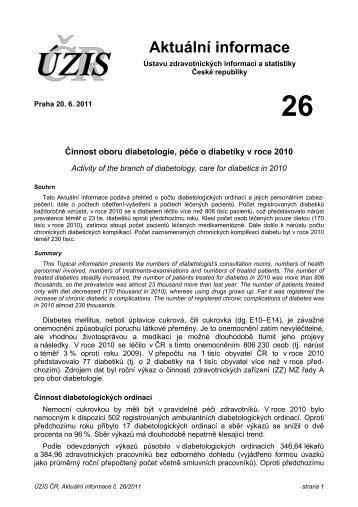 Aktuální informace č. 26/2011 - ÚZIS ČR